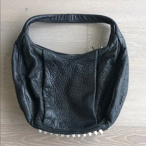 Alexander Wang Morgan Black Pebbled Leather Hobo